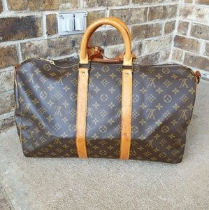 Louis Vuitton Auth Bandouliere Keepall 45